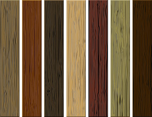 Vector wooden planks collection