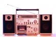 1980s style stereo cassette recorder ghettoblaster