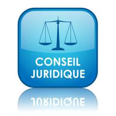 """Bouton """"CONSEIL JURIDIQUE"""" (justice droits consommateurs légal)"""