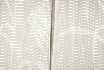Curtain with Wave Pattern