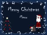 Merry Christmas - meow poster