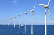 canvas print picture - Offshore Windpark