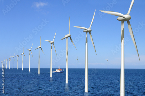canvas print picture Offshore Windpark