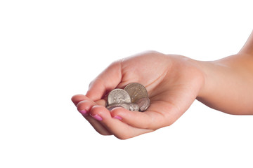 Coins in Hand