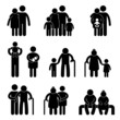 Happy Family  Icon Sign Symbol Pictogram