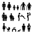 Happy Family Icon Sign Symbol Pictogram
