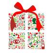 Christmas giftbox made with social media icons