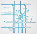 abstract infographics subway transportation plan poster