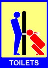Glory hole toilet sign