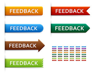 Feedback button, label or badge.