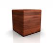 3D Holzwürfel abgerundet - Platane (Europäisch)