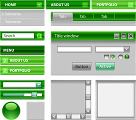 Web site theme - green