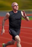 Male sprinter poster