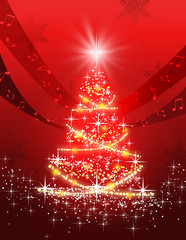 クリスマスツリーと音楽