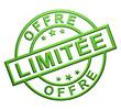 """""""Offre Limitée"""" Cachet (vert)"""