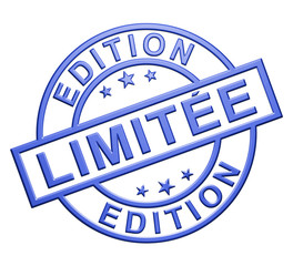 """Edition Limitée"" Cachet (bleu)"