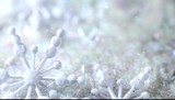 snowflakes before twinkled background poster