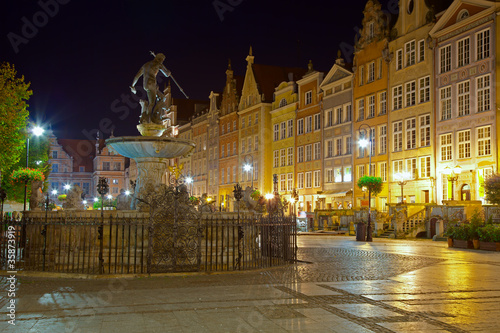 Gdansk by night, Poland.
