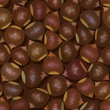 disorderly numerous ripe brown hazelnuts seamless background poster