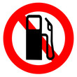 no fuel warning sign
