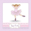 Sweet Girl Birthday Greeting Card