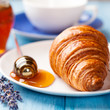 Croissant with lavender honey