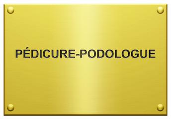 """""""Pédicure-Podologue"""" Plaque Profesionnelle Gravée"""