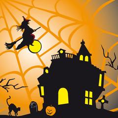 Cartolina a tema Halloween