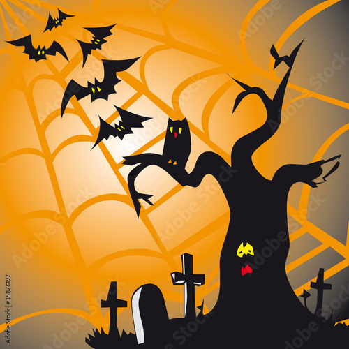 Halloween theme square card