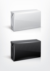 White and black wrap box package for new design