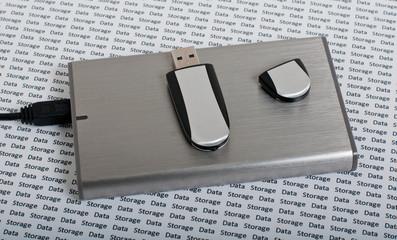 Hard drive & USB memory Stick