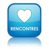 Bouton Web RENCONTRES (couple amour agence matrimoniale trouver) poster