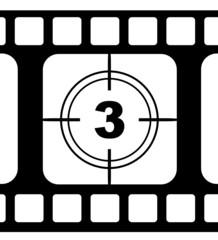 Filmstreifen Countdown