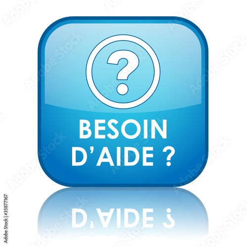 "Bouton ""BESOIN D'AIDE?"" (service clients support au secours sos)"