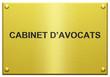 """""""Cabinet d'Avocats"""" Plaque Gravée"""
