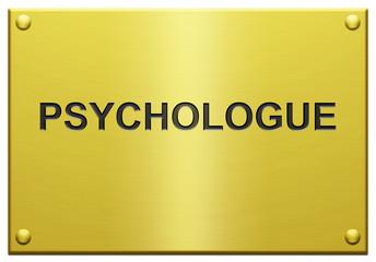 """""""Psycologue"""" Plaque Professionnelle Gravée"""