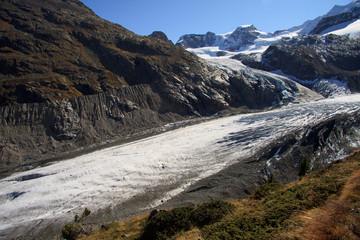 ghiacciaio del  Morteratsch e Piz Cambrena