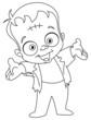 Outlined Frankenstein kid