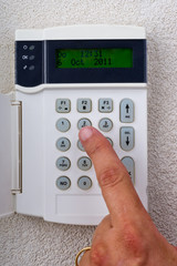 touchpanel to activate the alarm