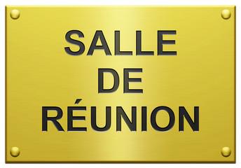 """""""Salle De Réunion"""" Plaque Gravée"""