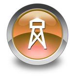 "Orange Glossy Pictogram ""Lookout Tower"""