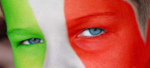Jeune supporter italien