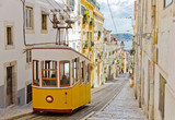 Fototapety Lisbon's Gloria funicular connects downtown with Bairro Alto.