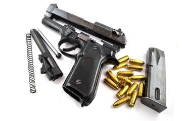 Pistola smontata