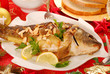 carp baked with almonds for christmas