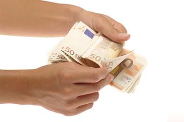 mano che conta soldi