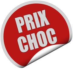 Sticker rot curl unten PRIX CHOC