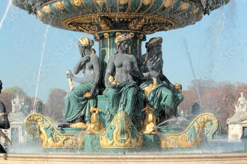 Leinwanddruck Bild Paris place Concorde