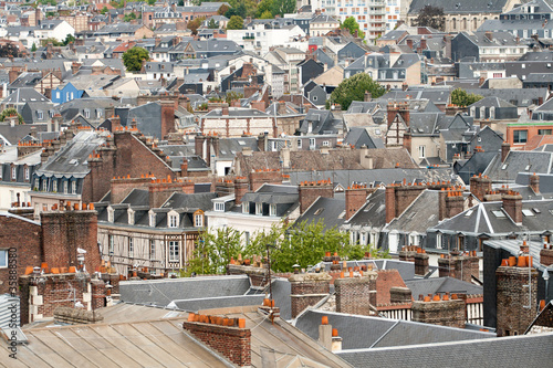 Rooftops of european city