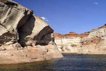 Lake Powell between Arizona and Utah USA